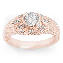 0.75 ctw Certified VS/SI Diamond Ring 14k Rose Gold - REF-115W8H