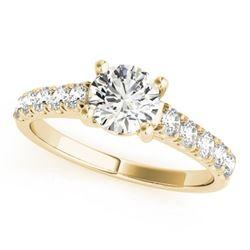 1.55 ctw Certified VS/SI Diamond Ring 18k Yellow Gold - REF-373H9R