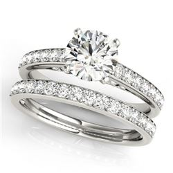 1.91 ctw Certified VS/SI Diamond 2pc Wedding Set 14k White Gold - REF-334K3Y