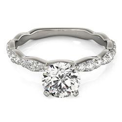1.15 ctw Certified VS/SI Diamond Ring 18k White Gold - REF-140H2R