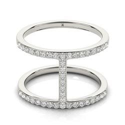0.5 ctw Certified VS/SI Diamond Fashion Ring 18k White Gold - REF-64Y3X