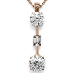 1.75 ctw Diamond Designer Necklace 18K Rose Gold - REF-386G2W