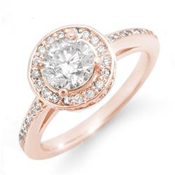 1.75 ctw Certified VS/SI Diamond Ring 14k Rose Gold - REF-429W8H