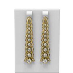 2.26 ctw Diamond Earrings 18K Yellow Gold - REF-296A8N
