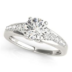 1.15 ctw Certified VS/SI Diamond Ring 18k White Gold - REF-156W2H