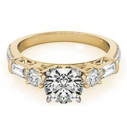 2.5 ctw Certified VS/SI Diamond Pave Ring 18k Yellow Gold - REF-557M2G