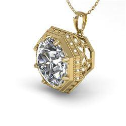 1.50 ctw VS/SI Diamond Necklace Art Deco 18k Yellow Gold - REF-525W6H
