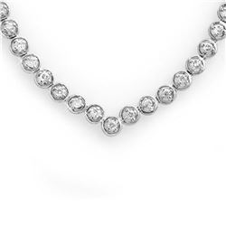 4.0 ctw Certified VS/SI Diamond Necklace 10k White Gold - REF-298Y2X