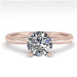 1.01 ctw VS/SI Diamond Engagment Designer Ring 14k Rose Gold - REF-224Y8X