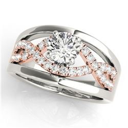 1.3 ctw Certified VS/SI Diamond Solitaire Ring 18k 2Tone Gold - REF-310H5R