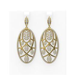 8.02 ctw Diamond Earrings 18K Yellow Gold - REF-573K3Y
