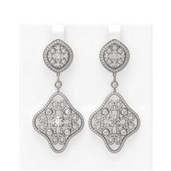 6.06 ctw Diamond Earrings 18K White Gold - REF-647N8F