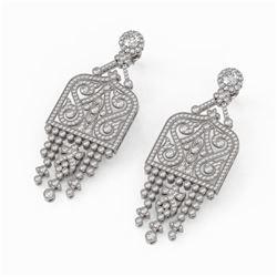 7.5 ctw Diamond Designer Earrings 18K White Gold - REF-756G4W