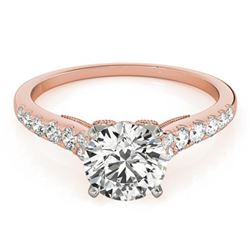 0.75 ctw Certified VS/SI Diamond Ring 18k Rose Gold - REF-62A8N