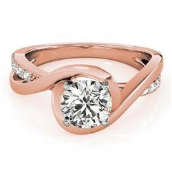 0.9 ctw Certified VS/SI Diamond Ring 18k Rose Gold - REF-155M2G