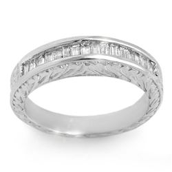 1.33 ctw Baguette Certified VS/SI Diamond Ring 14k White Gold - REF-136R4K