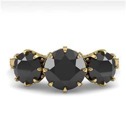 2 ctw Past Present Future Black Diamond Ring Vintage 18k Yellow Gold - REF-82M8G