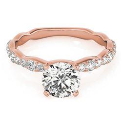 0.93 ctw Certified VS/SI Diamond Ring 18k Rose Gold - REF-87F8M