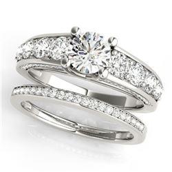 3.25 ctw Certified VS/SI Diamond 2pc Set Wedding 14k White Gold - REF-582K3Y