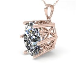 1 ctw Certified VS/SI Oval Diamond Necklace 18k Rose Gold - REF-279A2N