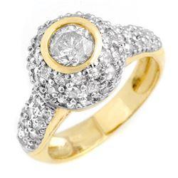 2.20 ctw Certified VS/SI Diamond Ring 14k Yellow Gold - REF-176N2F