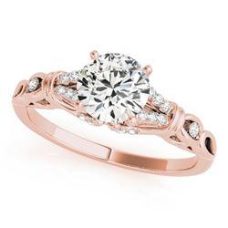 0.7 ctw Certified VS/SI Diamond Ring 18k Rose Gold - REF-86F2M