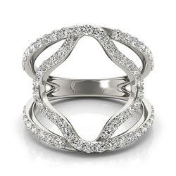 0.75 ctw VS/SI Diamond Fashion Ring 18k White Gold - REF-71F2M
