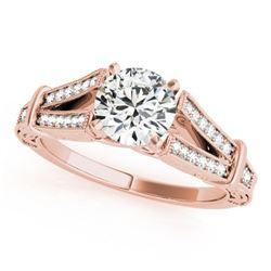 0.75 ctw Certified VS/SI Diamond Antique Ring 18k Rose Gold - REF-113M2G