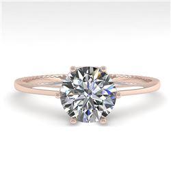 1.01 ctw VS/SI Diamond Engagment Ring 18k Rose Gold - REF-286R3K