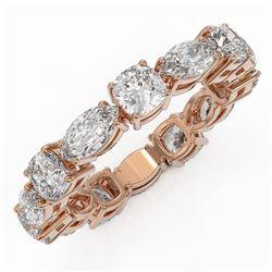 3.64 ctw Cushion Cut Diamond Eternity Ring 18K Rose Gold - REF-511H6R