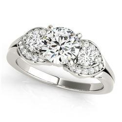 1.7 ctw VS/SI Diamond 3 Stone Ring 18k White Gold - REF-389N2F