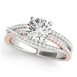 1.4 ctw Certified VS/SI Diamond Solitaire Ring 18k 2Tone Gold - REF-296H2R