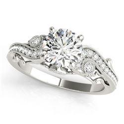 1.25 ctw Certified VS/SI Diamond Antique Ring 18k White Gold - REF-274M4G