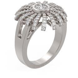 1.5 ctw Diamond Ring 18K White Gold - REF-250X2A