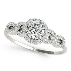 1.33 ctw Certified VS/SI Diamond Ring 18k White Gold - REF-275A6N