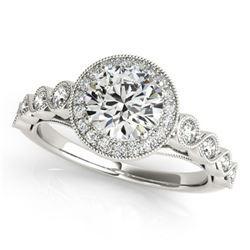 1.5 ctw Certified VS/SI Diamond Halo Ring 18k White Gold - REF-299G6W