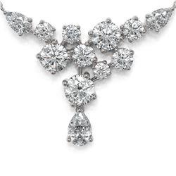 3 ctw Pear Diamond Designer Necklace 18K White Gold - REF-468X5A