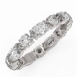 2.73 ctw Marquise Cut Diamond Eternity Ring 18K White Gold - REF-340X2A
