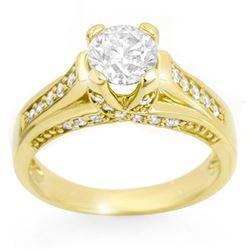1.25 ctw Certified VS/SI Diamond Ring 14k Yellow Gold - REF-186H4R