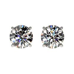 1.11 ctw Certified Quality Diamond Stud Earrings 10k White Gold - REF-72X3A