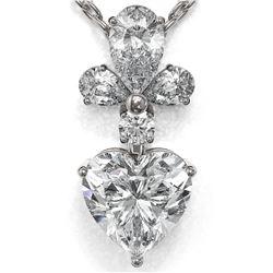 1.4 ctw Heart Diamond Designer Necklace 18K White Gold - REF-234R4K