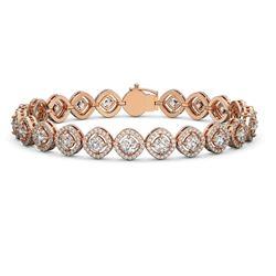 9.94 ctw Cushion Cut Diamond Micro Pave Bracelet 18K Rose Gold - REF-865R9K