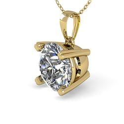 1 ctw VS/SI Diamond Designer Necklace 14k Yellow Gold - REF-223N6F
