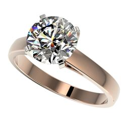 2.50 ctw Certified Quality Diamond Engagment Ring 10k Rose Gold - REF-616X8A