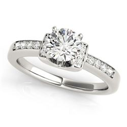 0.86 ctw Certified VS/SI Diamond Solitaire Ring 18k White Gold - REF-144X5A