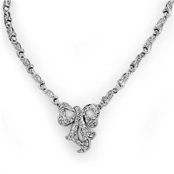 2.50 ctw Certified VS/SI Diamond Necklace 14k White Gold - REF-276G2W