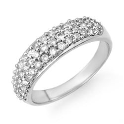1.0 ctw Certified VS/SI Diamond Ring 18k White Gold - REF-94X2A