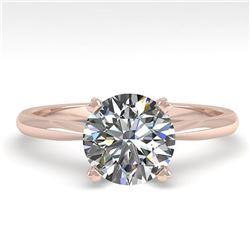 1.50 ctw VS/SI Diamond Engagment Designer Ring 14k Rose Gold - REF-421R2K