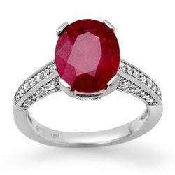 2.80 ctw Ruby & Diamond Ring 14k White Gold - REF-78N2F