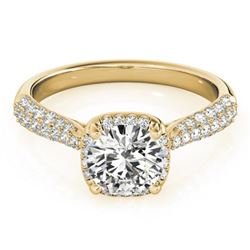 1.5 ctw Certified VS/SI Diamond Halo Ring 18k Yellow Gold - REF-292N3F